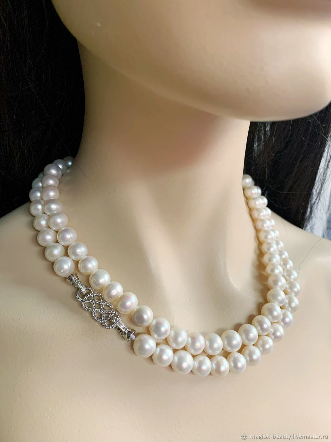 Pearl necklace ' White Orchid», Necklace, Moscow,  Фото №1