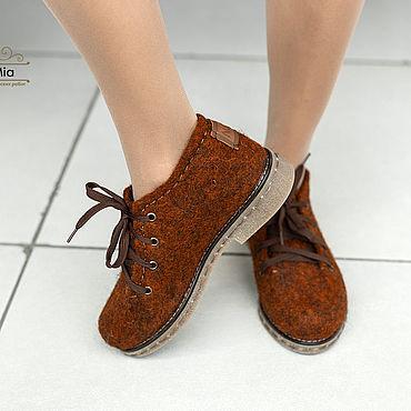 Обувь ручной работы. Ярмарка Мастеров - ручная работа Туфли: Туфли валяные Осень. Handmade.