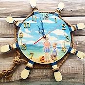 """Часы ручной работы. Ярмарка Мастеров - ручная работа Часы настенные в морском стиле """"Дети"""". Handmade."""