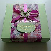 """Сувениры и подарки ручной работы. Ярмарка Мастеров - ручная работа Подарочная коробка """"Бабочки"""" - оригинальная упаковка. Handmade."""