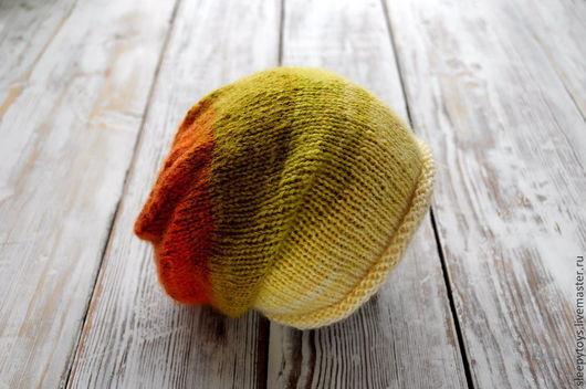 Для новорожденных, ручной работы. Ярмарка Мастеров - ручная работа. Купить Вязаная шапка-носок для фотосессии новорожденных. Handmade. Абстрактный