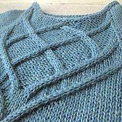 Одежда ручной работы. Ярмарка Мастеров - ручная работа Вязаный женский свитер с узором из кос. Handmade.