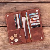 Сумки и аксессуары handmade. Livemaster - original item Genuine leather wallet Washington. Handmade.