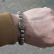Bead bracelet handmade. Livemaster - original item Bracelet made of lava - Compass Viking. Handmade.