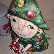 """Куклы и игрушки ручной работы. Ярмарка Мастеров - ручная работа текстильная грунтованная кукла """"Ёлка Василий"""". Handmade."""