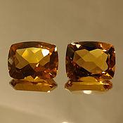 Материалы для творчества handmade. Livemaster - original item Natural citrine, pair 10h8 mm.. Handmade.