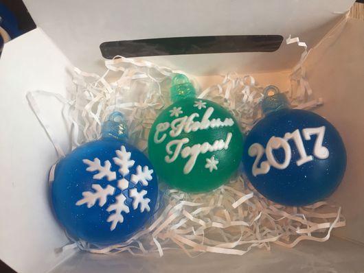 """Мыло ручной работы. Ярмарка Мастеров - ручная работа. Купить Мыло """"Елочный шар"""". Handmade. Мыло ручной работы, 2017 год"""