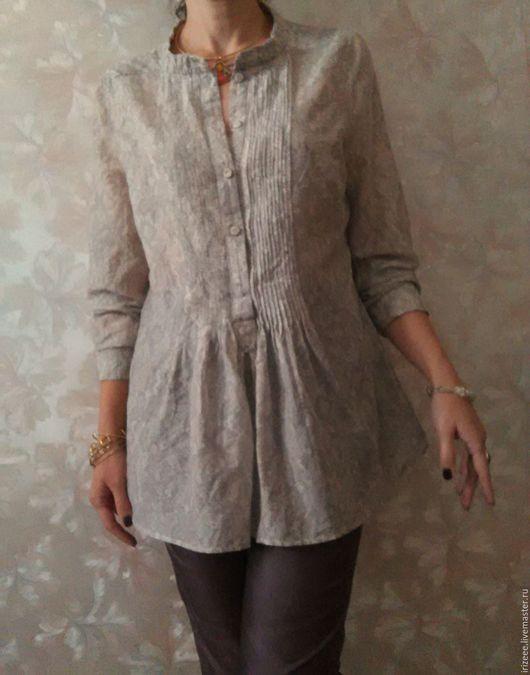 Блузки ручной работы. Ярмарка Мастеров - ручная работа. Купить блузка батистовая жемчужный серый. Handmade. Серая блузка, серый