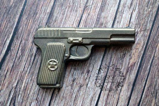 Мыло ручной работы. Ярмарка Мастеров - ручная работа. Купить Мыло Пистолет. Handmade. Хаки, мыльная основа