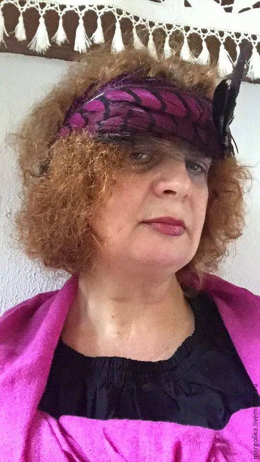 Винтажная одежда и аксессуары. Ярмарка Мастеров - ручная работа. Купить Аксессуар для волос, шляпка. Handmade. Комбинированный, вечерний аксессуар, фуксия