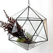 Цветы и флористика handmade. Livemaster - original item The Floriana. Floriana geometric pendant on a chain. The icosahedron. Handmade.