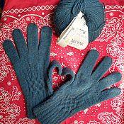 Перчатки ручной работы. Ярмарка Мастеров - ручная работа Перчатки для любимого мужчины из очень тёплой пряжи с Яком. Handmade.