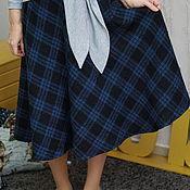 Одежда ручной работы. Ярмарка Мастеров - ручная работа Юбка теплая  из итальянской костюмной шерсти, юбка Полина. Handmade.