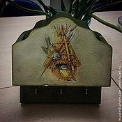 """Для дома и интерьера ручной работы. Ярмарка Мастеров - ручная работа Ключница """"Синички"""". Handmade."""