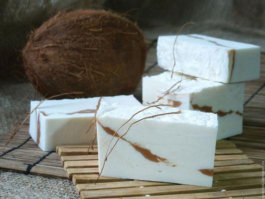 """Мыло ручной работы. Ярмарка Мастеров - ручная работа. Купить Мыло """"Кокосовый Рай"""" натуральное с нуля с девственным маслом кокоса. Handmade."""
