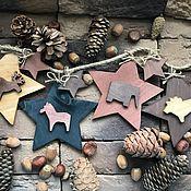 Сувениры и подарки handmade. Livemaster - original item Wooden stars with animals. Handmade.