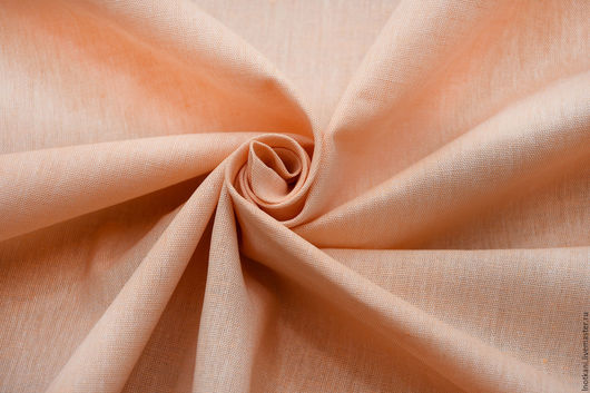 Шитье ручной работы. Ярмарка Мастеров - ручная работа. Купить Ткань льняная ш.220см арт.00218/220. Handmade. Оранжевый