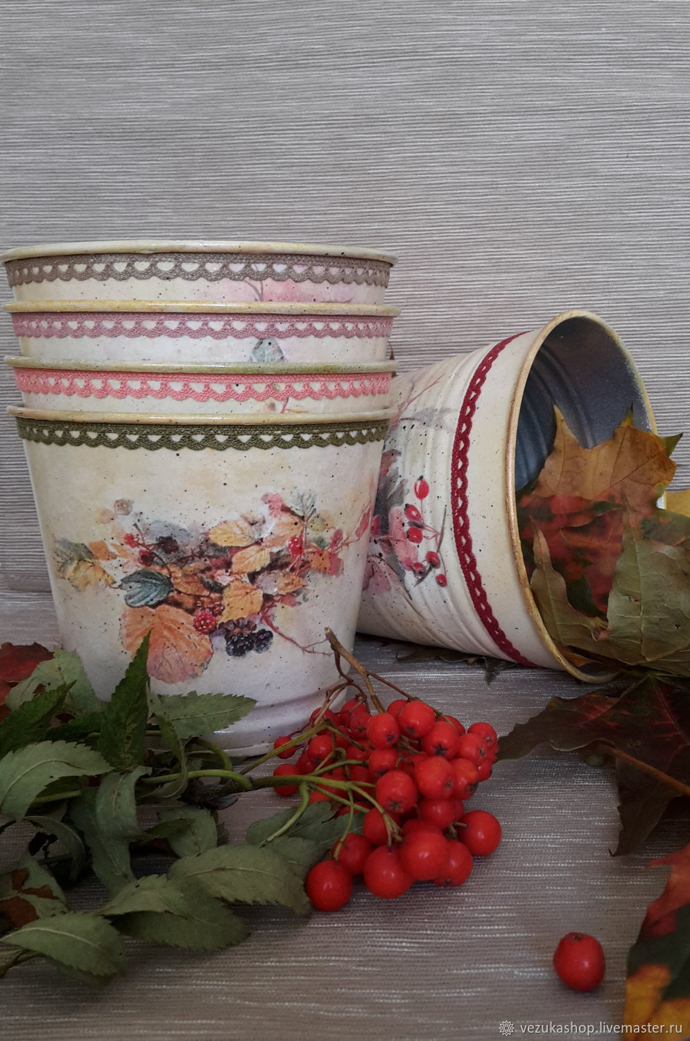 Buckets 'Fall colors', Pots1, Moscow,  Фото №1