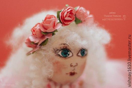 Коллекционные куклы ручной работы. Ярмарка Мастеров - ручная работа. Купить Ангел хранитель дома. Handmade. Бледно-розовый
