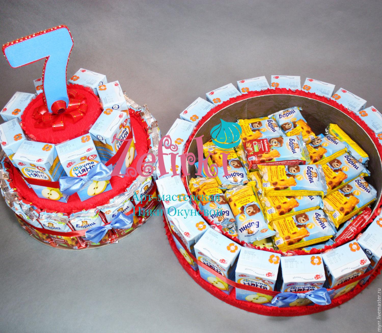 Торт из шоколадок и сока своими руками в детский сад 22