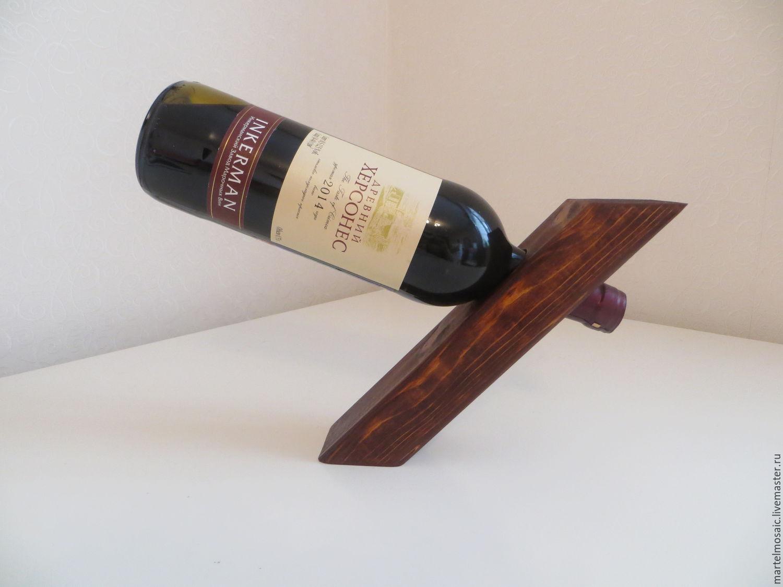 Подставка для бутылки вина из дерева своими руками 11