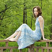 """Одежда ручной работы. Ярмарка Мастеров - ручная работа """"Облака""""-тонкое валяное платье с открытой спиной. Handmade."""