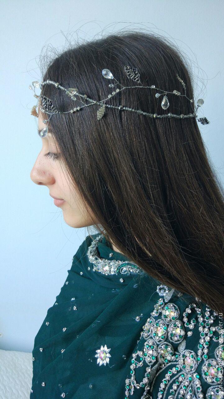 Jewelry bridal Leaf hair vine Flower hair piece Pearl bridal wreath, Headband, Poltava,  Фото №1