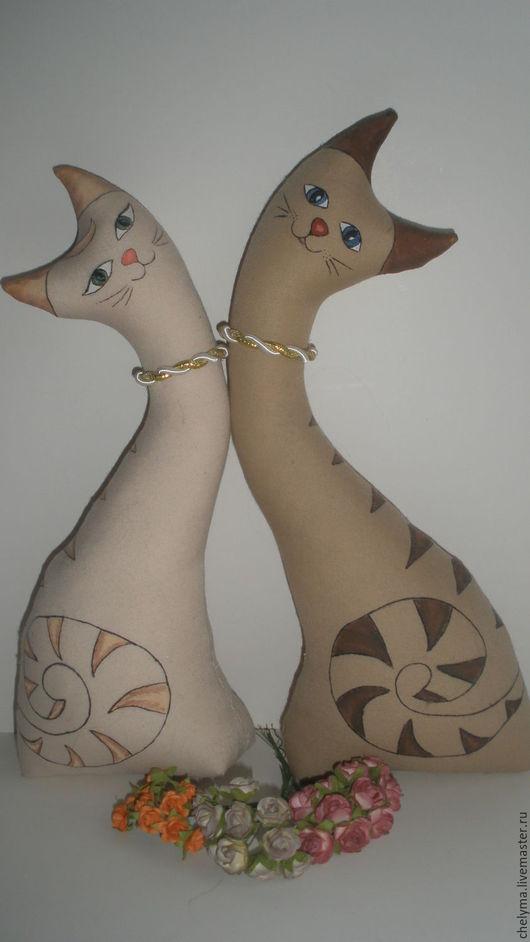 Игрушки животные, ручной работы. Ярмарка Мастеров - ручная работа. Купить коты неразлучники. Handmade. Бежевый, подарок, интерьерная игрушка