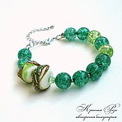 Украшения handmade. Livemaster - original item Bracelet of green quartz. Handmade.