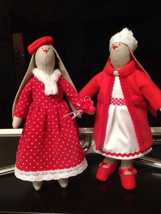 Куклы Тильды ручной работы. Ярмарка Мастеров - ручная работа. Купить Зайцы Тильда. Handmade. Хлопок, тильда кукла