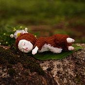 Куклы и игрушки ручной работы. Ярмарка Мастеров - ручная работа Кукла игрушка Сплюх лесной, 8,5 см. Handmade.