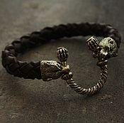 """Украшения ручной работы. Ярмарка Мастеров - ручная работа Кожаный браслет- """"Медведь"""". Handmade."""