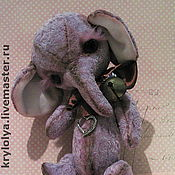 Куклы и игрушки ручной работы. Ярмарка Мастеров - ручная работа Слоник.Авторская игрушка.Жизель,21 см. Handmade.