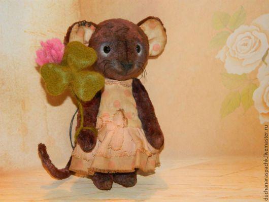 Мишки Тедди ручной работы. Ярмарка Мастеров - ручная работа. Купить Мышка тедди Тося. Handmade. Коричневый, мышка игрушка