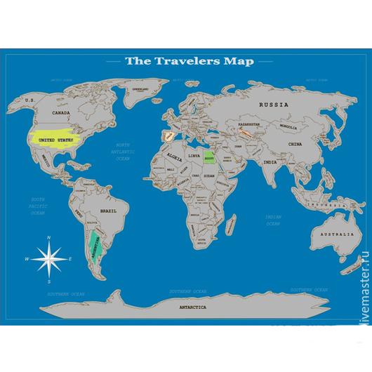 Приколы ручной работы. Ярмарка Мастеров - ручная работа. Купить Стиральная карта мира. Handmade. Разноцветный, стиральная карта