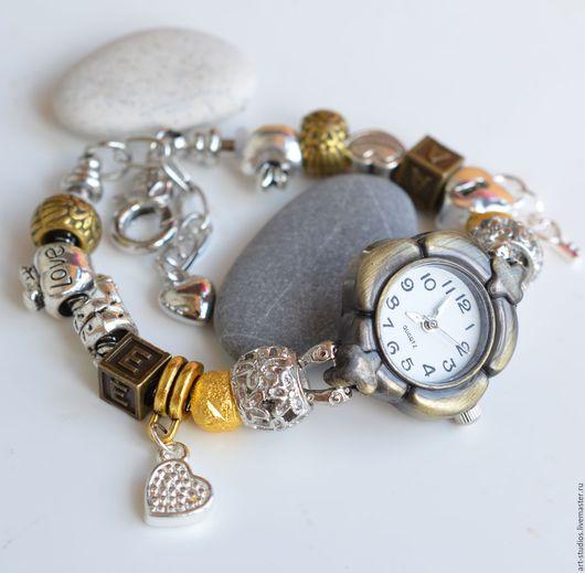 """Часы ручной работы. Ярмарка Мастеров - ручная работа. Купить Часы """"Адам и Ева""""с браслетом в европейском стиле.. Handmade."""
