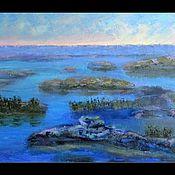 Картины и панно ручной работы. Ярмарка Мастеров - ручная работа Заря на болоте. Handmade.
