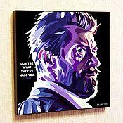 Подарки к праздникам handmade. Livemaster - original item Painting Poster Pop Art, Logan Wolverine. Handmade.
