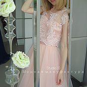 Одежда ручной работы. Ярмарка Мастеров - ручная работа Юбка из фатина Розовый кварц. Handmade.