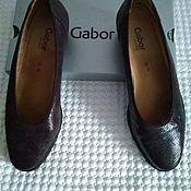 Обувь винтажная ручной работы. Ярмарка Мастеров - ручная работа Кожаные туфли Gabor 42 размер, Германия. Handmade.