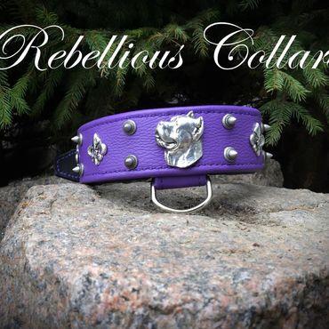 Для домашних животных, ручной работы. Ярмарка Мастеров - ручная работа Ошейник royal purple. Handmade.