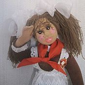Куклы и игрушки ручной работы. Ярмарка Мастеров - ручная работа АНФИСА ПИОНЕРКА кукла ручной работы. Handmade.