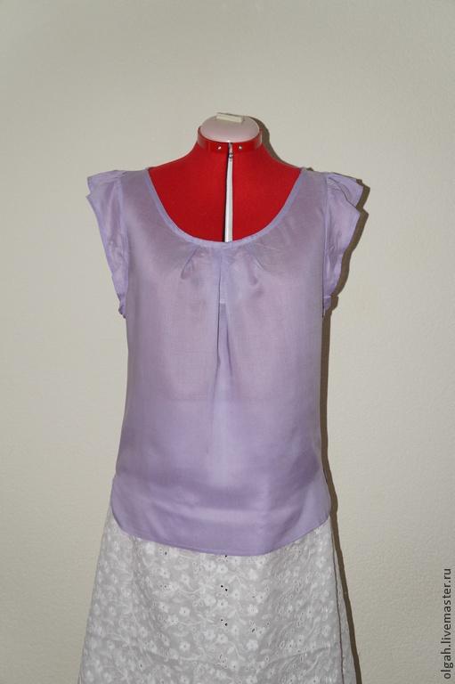 Блузки ручной работы. Ярмарка Мастеров - ручная работа. Купить Блузка вискоза. Handmade. Бледно-сиреневый, блузка нарядная
