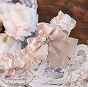 """Свадебный салон ручной работы. Ярмарка Мастеров - ручная работа Подвязка для невесты """"Экрю"""". Handmade."""