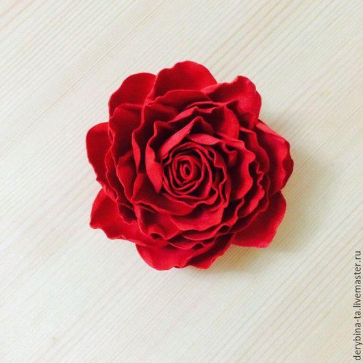 Заколки ручной работы. Ярмарка Мастеров - ручная работа. Купить Красная роза из фоамирана. Заколка. Повязка. Ободок.. Handmade.