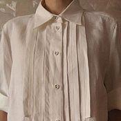 Одежда ручной работы. Ярмарка Мастеров - ручная работа Белая льняная блузка. Handmade.
