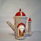 """Ночники ручной работы. Ярмарка Мастеров - ручная работа Светильник """"Чаепитие Хомы"""". Handmade."""