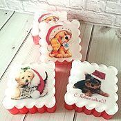 Косметика ручной работы handmade. Livemaster - original item Christmas soap with the picture, the Symbol of the year 2018 Dog. Handmade.