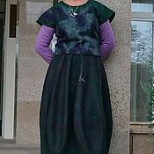 """Одежда ручной работы. Ярмарка Мастеров - ручная работа костюм валяный """"Изумрудный"""". Handmade."""