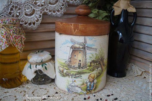 """Кухня ручной работы. Ярмарка Мастеров - ручная работа. Купить """"Голландия""""-Короб для сыпучих продуктов. Handmade. Белый, короб для специй"""